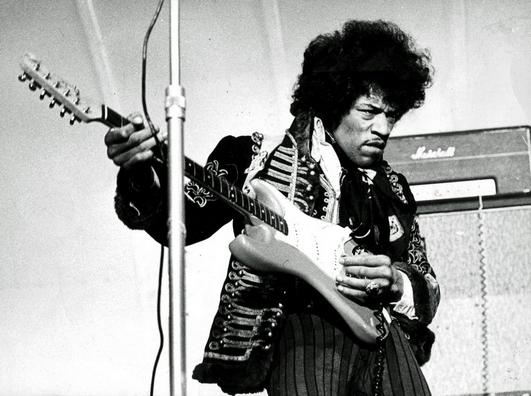 Gitarrlegenden Jimi Hendrix